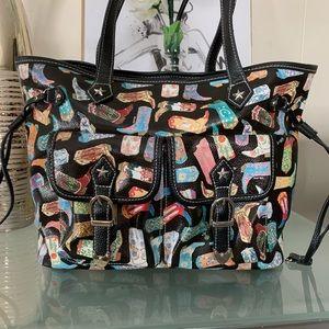 Sydney Love Drawstring Cowboy Boots Tote Bag